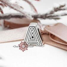 Pandora S925, Alphabet Letter A Clip, Initial, Symbol, Reflexions Charm 798197