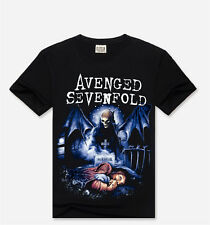 Men's 3D Avenged Sevenfold Short Sleeve T-Shirts Tops Collar Personalized Tee Sz