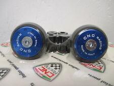 CNC Racing UNIVERSAL Handlebar Caps (Bar Ends), Low Profile - Blue