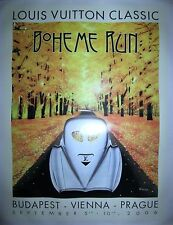 "Hand-Signed Razzia Poster Louis Vuitton Classic ""Boheme Run"" on Linen"