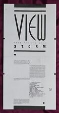 Fish – View From The Eye Of A Storm – 1st solo news sheet – Signed – Marillion
