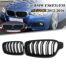 Pair Matte Black Front Bumper Kidney Grille Grill for BMW 3 Series F30 F31 12-16