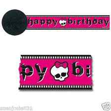 Monster High Birthday Crepe Streamer 1ct Party Decoration Supply 30ft