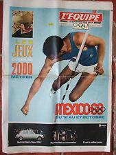 l'Equipe des 12/13/10/1968 les jeux olympiques de Mexico