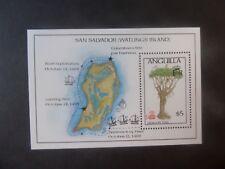 Anguilla 1986 500th Ann Columbus ship dragon tree MS744b MNH UM unmounted mint