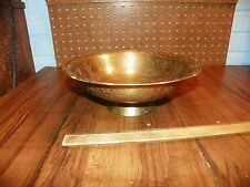 Vintage Brass Bowl w Etched Dragon Design - Made In China                      !