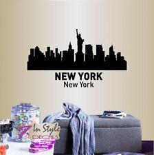 Wall Vinyl Decal New York Skyline City NYC USA Cityscape Room Room Decor 1267