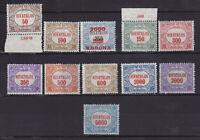 Ungarn 1922/23 Dienstmarken, postfrisch