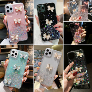 For iPhone 12 Pro Max 11 XR XS MAX 8 Glitter Shockproof Bling Girls Case Cover