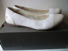 Timberland Ladies Cream Ballerina Suede Shoes New Size EU 39 UK 6