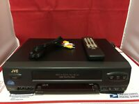 JVC HR-A51U 4 Head Hi-Fi Stereo VHS VCR Player Recorder ☆ Remote AV Cable Clean