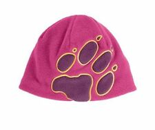 JACK Wolfskin Girls Rosa Paw Print Cappello in Pile Nuovo