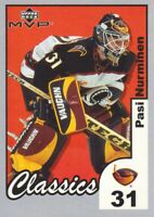 2002-03 Upper Deck MVP Classics Parallel Hockey Cards Pick From List
