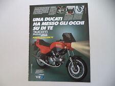 advertising Pubblicità 1982 MOTO DUCATI PANTAH XL 350 DESMO
