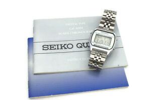 Vintage Seiko A904-5199 Alarm Chronograph LCD Digital Mens Wrist Watch W/ Manual