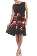 Women's Joseph Ribkoff Black/Red Floral Sleeveless Dress Sz 10(UK 12) New 173760
