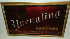 """Vintage Yuengling Beer Sign Mirror 32""""X20"""" America's Brewery 175th Anniv * NEW *"""