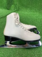 Sonjia Bronze Canada Women's Figure Skating White Leather Boot Size 5