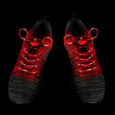 25 Red Pairs LED Shoelaces Light Up Fibre Glow Flashing Luminous Shoe Lace Party