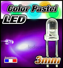 290SA# LED 3mm  couleur pastel   violet Sakura * de 5 à 100 pcs