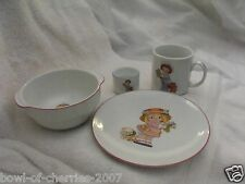 Dolly Dingle Child's Dishes 4 Pc by Global Art, 1986, Made in Germany