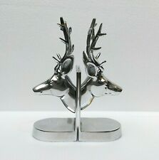 Deer Head Bookends Pair Aluminium Decorative Gift Stag Head