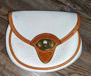 Dooney and Bourke mini Cavalry white leather belt bag NO strap