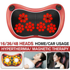 16 Head Car Electric Neck Back Massager Heated Magnetic Shiatsu Pillow