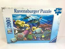 Ravensburger Ocean Turtles Jigsaw Puzzle 200 pcs Xxl New Tropical Fish Reef