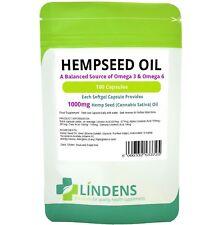 Lindens Powerful Hemp Seed Oil 1000mg 100 Capsules Omega 3 6