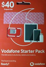 Vodafone prepaid sim $40.00 starter pack activate brand new!