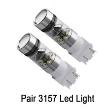 2x Bright White 3157 100W Projector LED Reverse Backup Light Bulbs DRL Driving