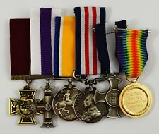 Superb Set of 6 Full Size Replica WW1 WW2 War Medals British/Imperial/Campaign
