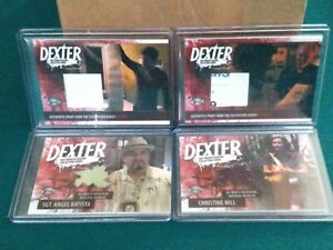 Lot Of Four Dexter Fourth Season Prop And Costume Cards