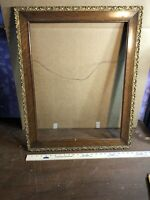 "Vintage Antique Oak w/Gesso Picture Frame Fits 18 1/2"" by 24 1/2"" Painting"
