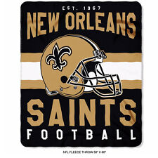 "New Northwest NFL New Orleans Saints Soft Fleece Throw Blanket 50"" X 60"""