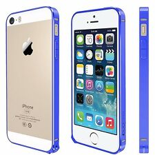 For iPhone SE,5,5S Metal Anodized Bumper Style Protective Cover Guard Case Blue