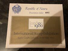 More details for nauru stamps sg 174/90 u/m in special 1980 london internation folder