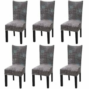 6Pcs Stretch Dining Chair Covers Slipcover Spandex Wedding Cover Removable AU