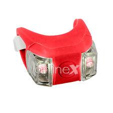 Luz  Bici Silicona Color Rojo con Doble LED a1465