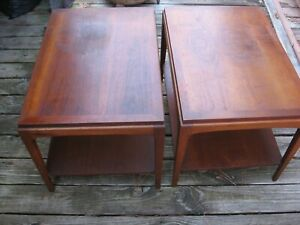 Pair (2) Vintage Lane Mid Century Modern Solid end table model 997-05,