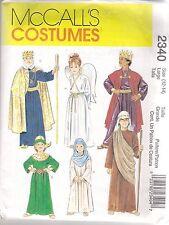 McCalls Sewing Pattern 2340, Nativity Christmas Story Costumes, Child 8 - 10 New