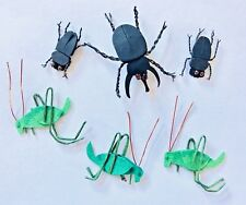 3 NIP BUGS GRASSHOPPERS BEETLES JOLEE'S BY YOU DIMENSIONAL EMBELLISHMENTS INSECT