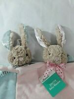 NWT Dan Dee Pink or Blue Bunny Rabbit  Blankie Security Lovely Blanket & Rattle