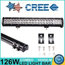 20inch 126W CREE Led Light Bar Combo Work Driving Truck ATV Off-road 4WD 12V 24V