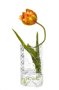 Elegant Decorative Glass Swirls Flower Table Bud Vase  - 22.5cm high