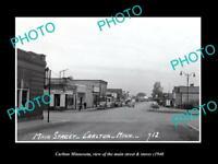 OLD LARGE HISTORIC PHOTO OF CARLTON MINNESOTA, THE MAIN STREET & STORES c1940