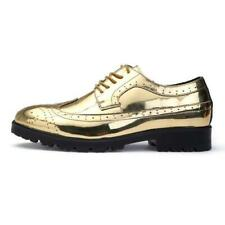 Mens Casual Patent Leather Shoes Lace Up Formal Breathable Non Slip Oxfords Sz D