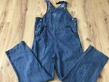 MAMI Maternity Blue Women's Denim Dungaree Jumpsuit Overall Jeans Sz EU 40 UK 14