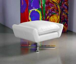 Fußhocker Sitting Stool Television Chair Genuine Leather! 3 Leather Colored